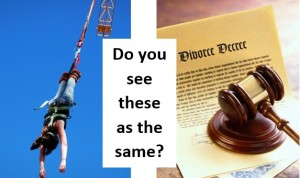 Bungee jumping and divorce: cut from the same cloth?