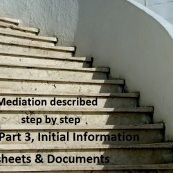 Mediation described step by step Part 3 Initial information sheets and documents