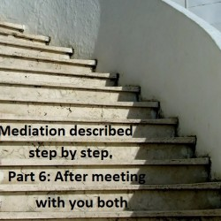 Mediation described step by step. Part 6: After meeting with you both