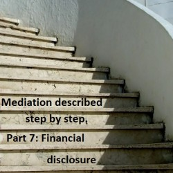 Mediation described step by step. Part 7: Financial disclosure