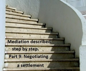 Mediation described step by step. Part 9: Negotiating a settlement