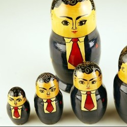 Russian dolls in suits