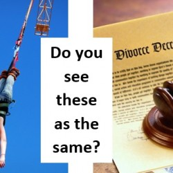 Bungee jumping and divorce cut from the same cloth