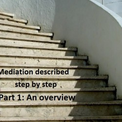 Mediation described step by step: Part 1, An overview